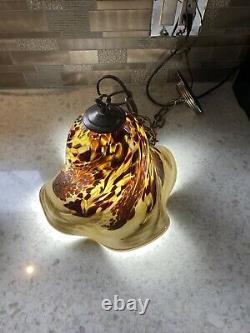 3 Chandelier Hand Blown Glass Pendant Kitchen Island Ceiling Lights Signed
