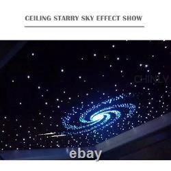 32W TWINKLE RGBW Fiber Optic Star Ceiling Kit LED Meteor Light 800pcs 4m 0.75mm