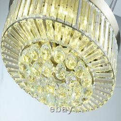 36 42 Crystal Ceiling Fan Chandelier with Led Light Remote 4-Retractable Blades