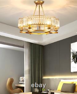 6-Lights Gold Crystal Chandelier Luxury Dinning Room Ceiling Modern Pendant Lamp