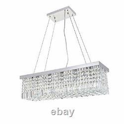 A1A9 Modern Crystal Chandelier Lights, Luxury Clear K9 Crystal Droplet Elegant