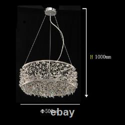 Aglow INT Modern Round Ceiling Pendant Chandelier with K9 Crystal Decor
