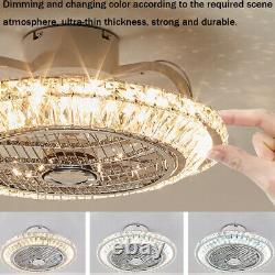 Ceiling Fan with Light Crystal Ceiling Fan with LED Light 72W Modern Chandelier