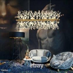 Crystal Chandelier Kitchen Island Lighting 9 Light Modern Pendant Ceiling Lamp