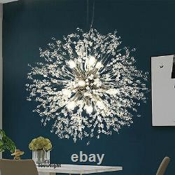 Crystal Chandelier Pendant Lamp Modern Firework 9 Light Sputnik Ceiling Lighting