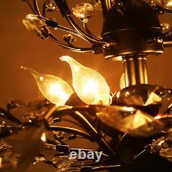 Crystal Decoration Chandelier Pendant Lamp E14 Modern 8 Lights Ceiling Lighting