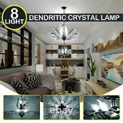 Crystal Decoration Chandelier Pendant Lamp Modern 8 Lights E14 Ceiling Lighting