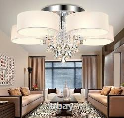 Crystal Dimmable Led Chandeliers Lighting Acrylic Ring Home Ceiling Fixtures New