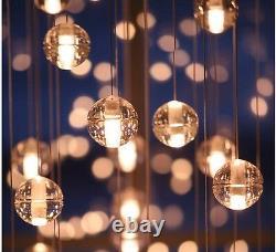 Crystal Glass Ball Pendant Ceiling Light Lamp Free LED G4 Bulbs Chandelier Decor