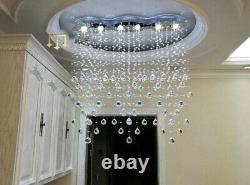 Crystal Restaurant Pendant Light Fixtures LED Chandelier Rain Drop Ceiling Lamp