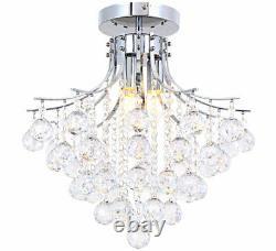 Crystal modern chandelier ceiling lamp light lighting pendant Ø40 RISTA-L 3x E14