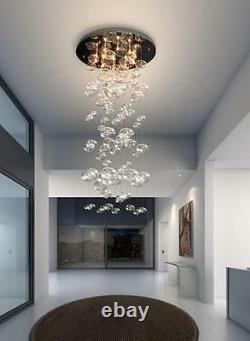 D23.6 x H47.3 Murano Due Bubble Glass Chandelier Modern Ceiling Light Fixtures
