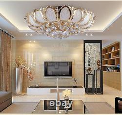 D50cm Elegant Modern Crystal Ceiling Fixture Lamps Chandelier Bedroom Lighting