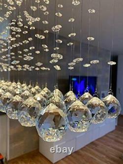 Dst Crystal Chandelier Ceiling Lights, Modern Rectangular Droplet Chandeliers