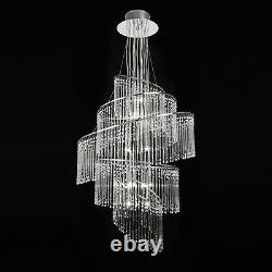 ENDON Camille 24 Light Clear Glass & Chrome Finish Ceiling Pendant chandelier