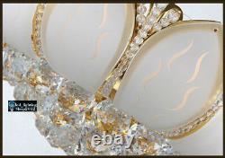 Elegant Modern LED K9 Crystal Ceiling Fixture Lamps Chandelier Bedroom Lighting