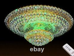 European court style K9 Clear crystal LED ceiling lamps chandeliers Lighting