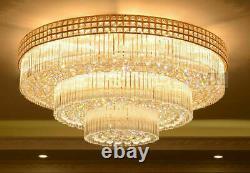 European court style LED luxury crystal ceiling lamp chandelier Lighting Fixture