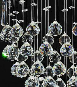 Galass-XL chandelier crystal ceiling lamp 2m long droplet cascading lighting