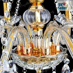 Geniune K9 Crystal Chandelier CLEAR GOLDEN 2/5/6/7/8/10/15 Arms Table Floor Lamp