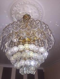 Glass crystal chandelier ceiling 8 light
