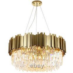 Gold Crystal Chandelier Modern Ceiling Light Crystal Pendant Chandelier Lamp