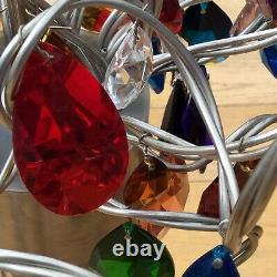 Harco loor ceiling light chandelier huge crystal flowers x 27 drops modern art