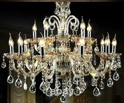 Island 15 bulb modern crystal chandelier wall fixture Ceiling Light Pendant lamp