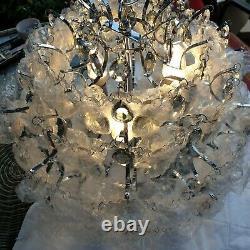 John Lewis Baroque Crystal Chandelier Ceiling Light Clear/blue