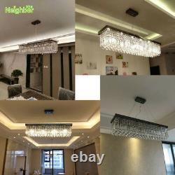 LED Crystal Ball Pendant Light Dinning Room Chandelier Ceiling Lamp100cm