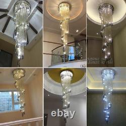 LED Crystal Bead Ceiling Lamp Lighting Chandelier Stair Pendant Light Fixtures