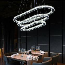 LED Crystal Ceiling Light Modern Pendant Chandelier Lamp Kitchen Bedroom Hallway