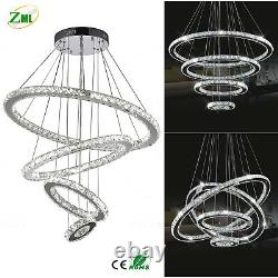 LED Crystal Chandelier Ceiling Light Pendant Lamp 18With48With144W Modern Adjustable