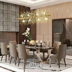 LED Crystal Chandeliers Firework Hanging Ceiling Light Fixture Modern GOLD