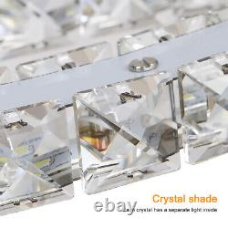 LED Crystal Oval Ring Pendant Light Chandelier Lamp Ceiling Fixture Home Decor