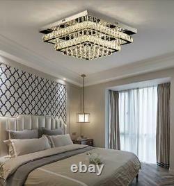 LED Modern Clear Crystal Ceiling Light Pendant Luxury Lamp Chandelier Lighting