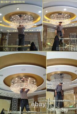 LED Modern K9 Clear Crystal Ceiling Light Pendant Lamp Chandelier Fixtures