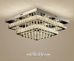 LED Modern K9 Clear Crystal Ceiling Light Pendant Lamp Chandelier Lighting New