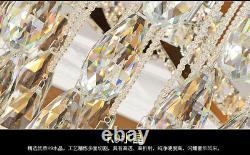 LED luxury crystal lamp ceiling living room light round bedroom lamp fixture NEW