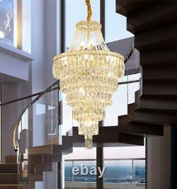 Large Chandelier living room Pendant Light LED dimmable crystal Ceiling lamp