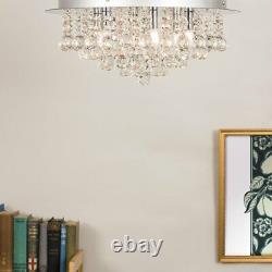 Large Genuine K9 Crystal Glass Jewel Droplet Flush Ceiling Fitting Elegant Light