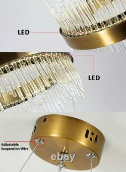 Large Round Crystal Chandelier Post Modern Halo Design Crystal LED Ceiling Light
