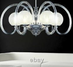 Led XXL chandelier glass design ceiling lamp glitter crystal lighting 74cm big