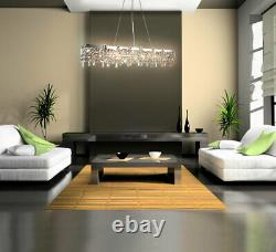 Led glass crystal chandelier ceiling pendant lamp labyrinth decorated massively
