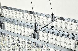 Luxury Crystal Chandelier Ceiling Lights Modern Rectangle Raindrop Pendant Light