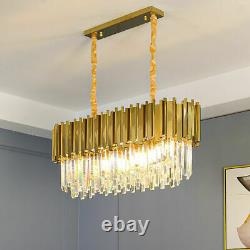 Luxury Gold Modern Crystal Large Oval Chandelier Light Pendant Ceiling Lamp