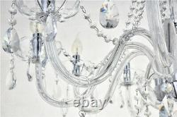 Marie Therese 10-light Clear Crystal Glass Ceiling Light Pendant Lamp Chandelier