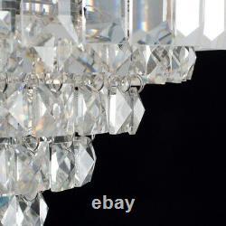 MiniSun Ceiling Light Modern Chrome Fitting Genuine K9 Crystal Jewel LED Bulb