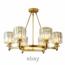 Modern 6-Lights Crystal Chandelier Crystal Pendant Lamp Luxury Ceiling Lighting