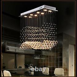 Modern 8-Light Crystal Chandelier Downlight Artistic Ceiling Lights Dining Room